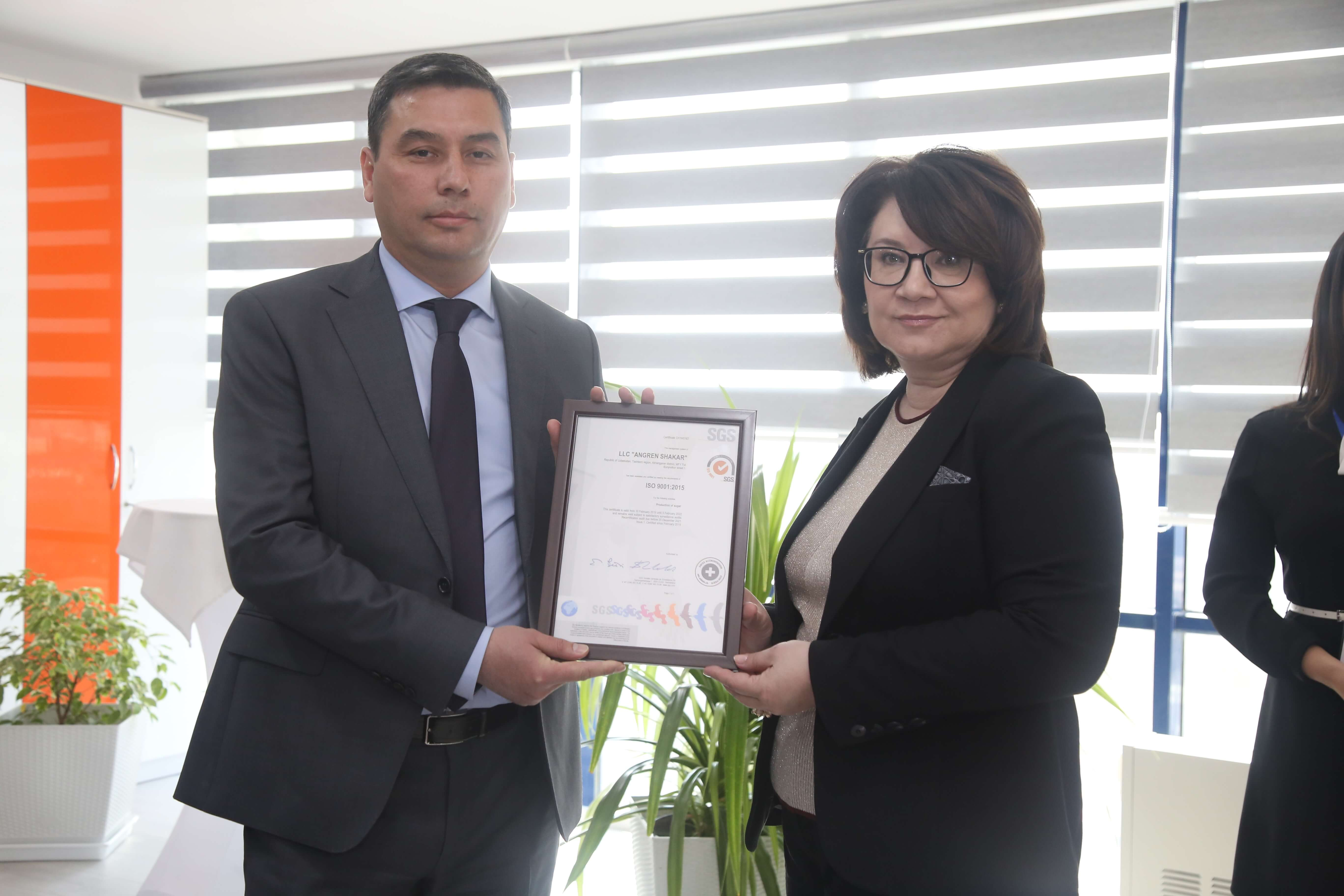 Client receives certificate